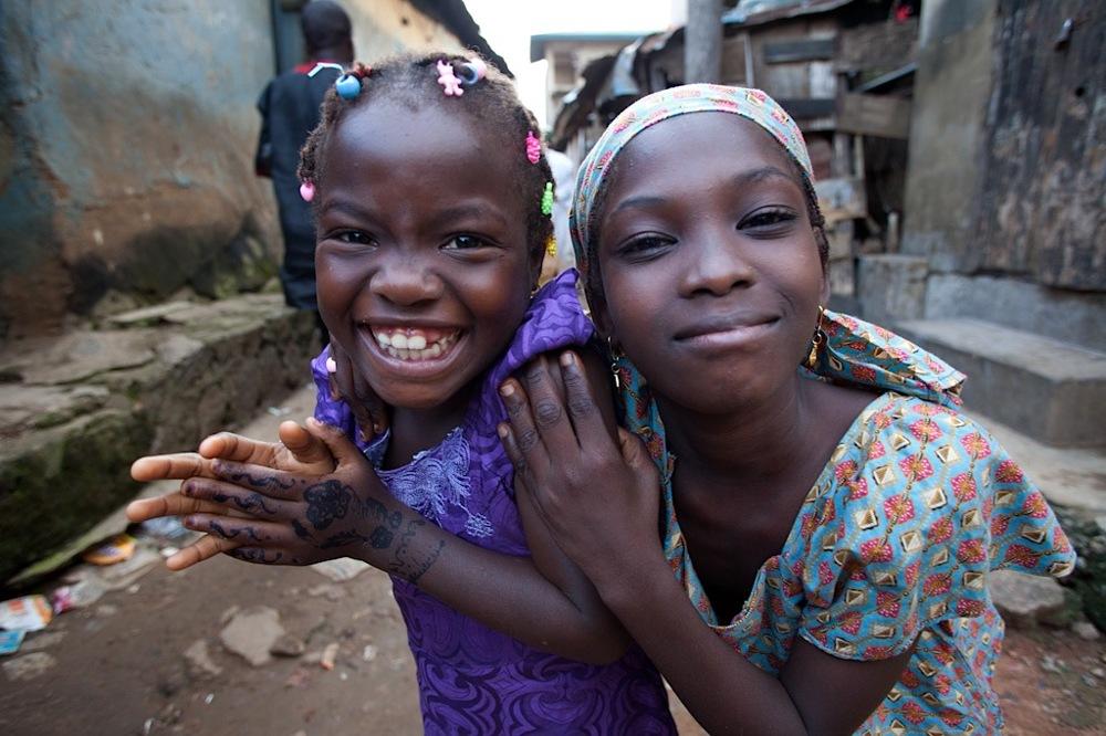 photoblog image Happy slum kids in Ibadan